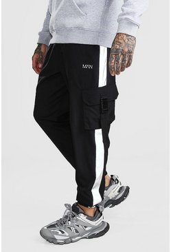 Black Original MAN Shell Buckle Jogger With Panel