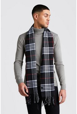 Black And Red Check Scarf