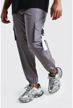 Charcoal Big And Tall MAN Shell Buckle Jogger