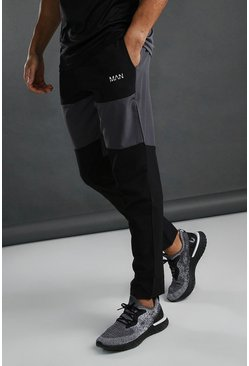 Charcoal MAN Active Tech Panelled Joggers