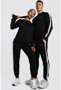Her Loose Fit Tape Detail Tracksuit, Black