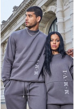 Slate Her Embroidered Sweat Tracksuit
