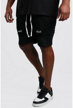 Black Big And Tall Skinny Jean Short