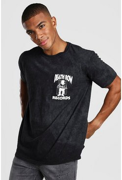 Black Death Row Records Wash License T-Shirt