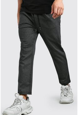 Charcoal Scuba Dropped Crotch Trouser
