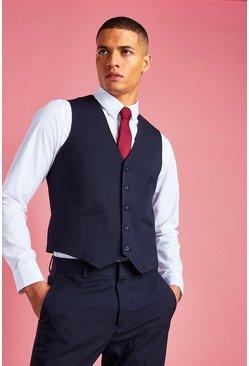 Navy Skinny Vest