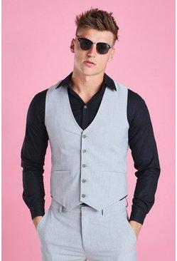 Grey Skinny Vest