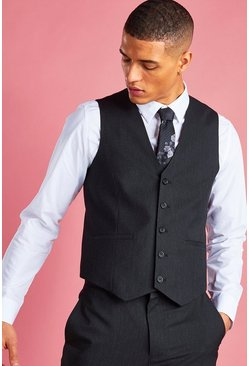 Charcoal Skinny Vest
