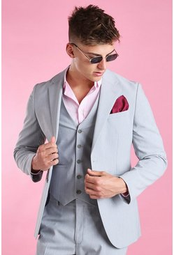 Blazer coupe slim, Gris