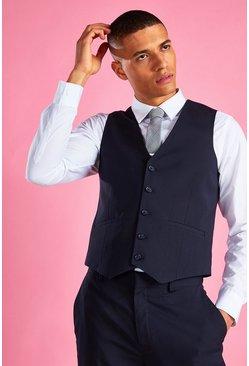 Navy Slim Fit Vest