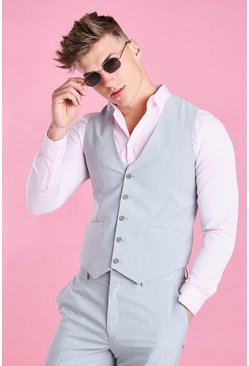 Grey Slim Fit Vest