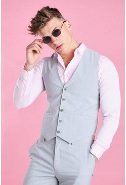Grey Slim Fit Vest
