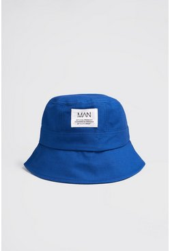 MAN Dash Woven Tab Bucket Hat , Blue