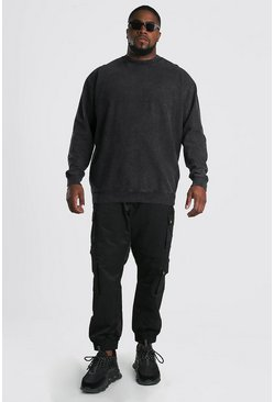 Plus Size MAN Official Sweater, Charcoal
