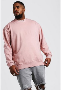 Big And Tall MAN Official Sweater, Mauve