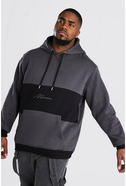 Big And Tall MAN Signature Hoodie, Charcoal