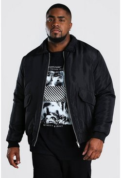 Black Big And Tall 2 Pocket Coach Jacket