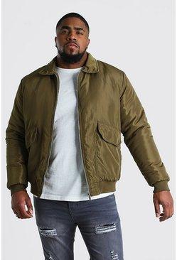 Khaki Big And Tall 2 Pocket Coach Jacket