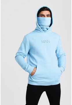 Blue MAN Official Jersey Hoodie With Snood