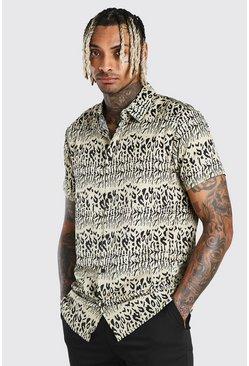 Stone Short Sleeve Animal Print Shirt