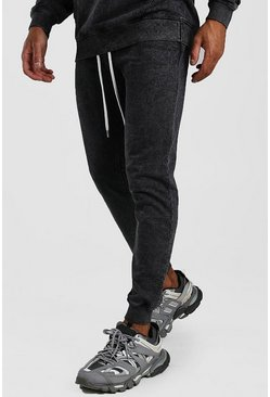 Charcoal Man Official Jogger In Acid Wash