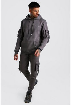 Slate Official MAN Deep Cuff Utility Buckle Tracksuit