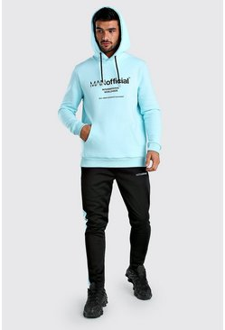 Light blue Contrast MAN Official Hoodie & Scuba Joggers