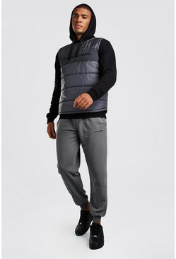 Slate Official MAN Quilted Vest & Jogger Set