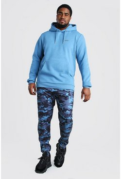 Blue Big and Tall MAN Hoodie and Jogger Set