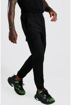 Black Skinny Casual Cargo Pants