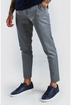 Pantalon super skinny casual, Gris