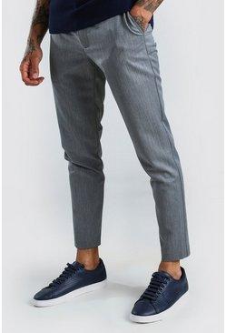 Grey Super Skinny Casual Pants