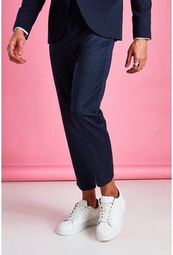 Pantalon court slim casual, Marine
