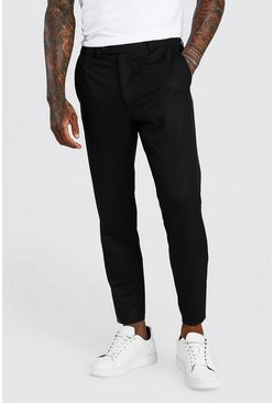 Black Skinny Cropped Casual Pants