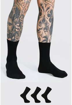 Black 3 Pack Suit Socks