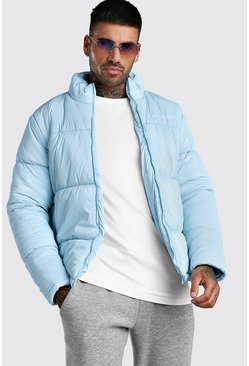 Light blue High Shine MAN Official Puffer