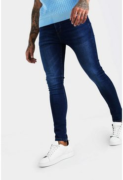Washed indigo Super Skinny Washed Denim Jean