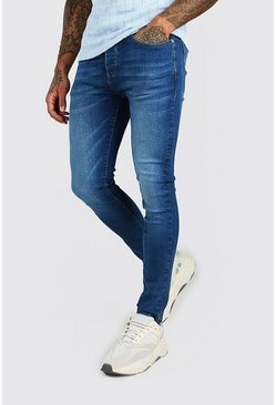 Mid blue Super Skinny Washed Denim Jean
