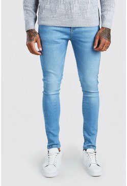 Light blue Super Skinny Washed Denim Jean