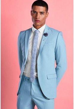 Blue Super Skinny Fit Blazer