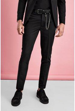 Black Super Skinny Tuxedo Pants