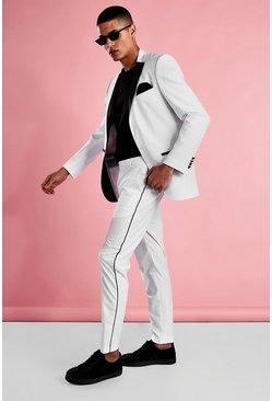 White Skinny Tuxedo Blazer