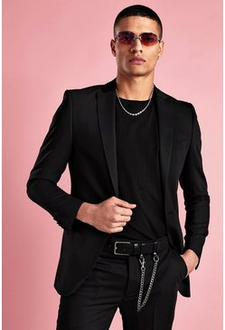 Super Skinny Smoking-Blazer, Schwarz