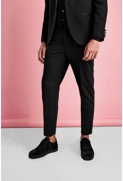 Black Slim Fit Tuxedo Pants