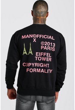 Black MAN Official Back Print Sweatshirt