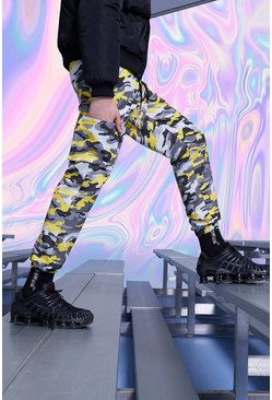 Yellow Camo Cargo Trouser