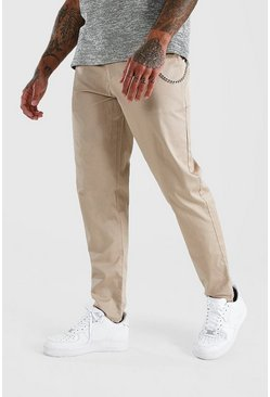 Stone Slim Fit Chino Trouser With Chain