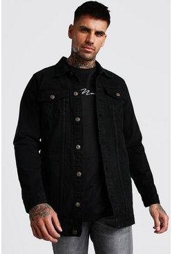 Black Longline Denim Jacket