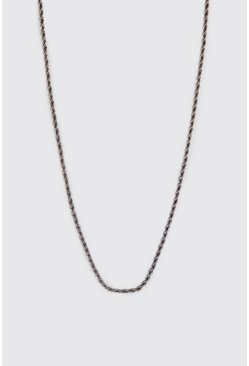 Silver Twisted Rope Chain