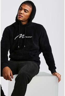 Black Borg MAN Signature Over The Head Hoodie